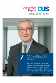 Prof. Dr. Ulrich Lehner, Präsident IHK Düsseldorf<br />Client: Flughafen Düsseldorf GmbH
